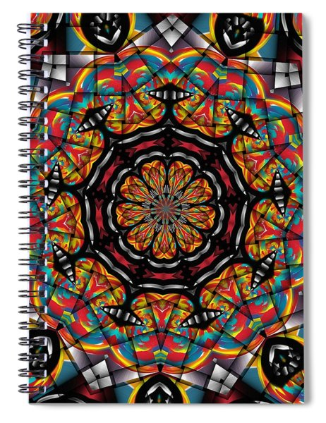 Sunset K 88 Kaleidoscope Spiral Notebook