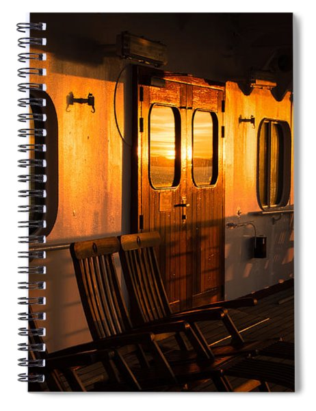 Sunset At Sea Spiral Notebook