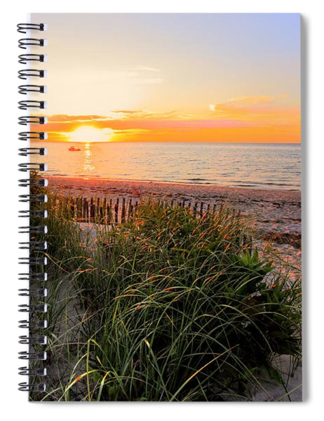 Sunset On Cape Cod Bay Spiral Notebook