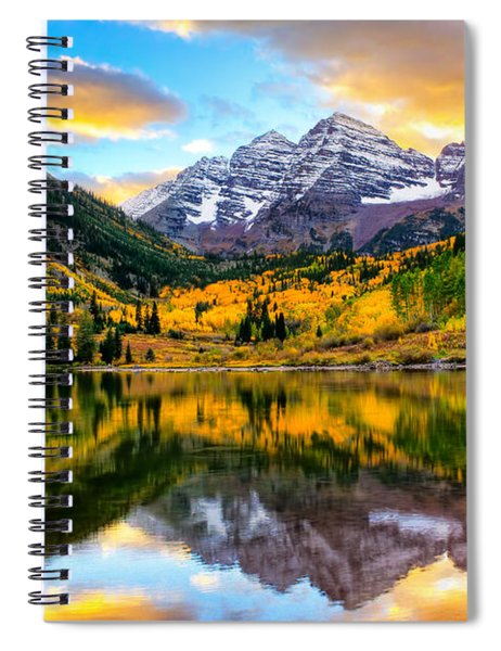Sunset On Maroon Bells Spiral Notebook