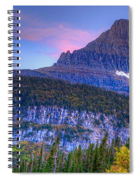 Sunset On Reynolds Mountain Spiral Notebook