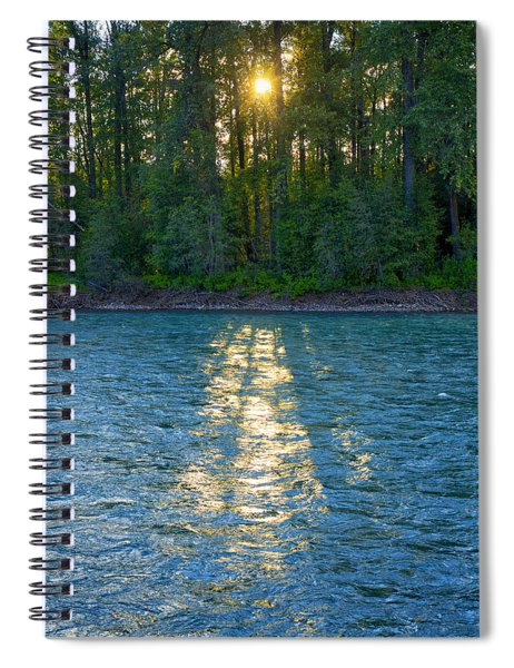 Sunset On The Bulkley Spiral Notebook