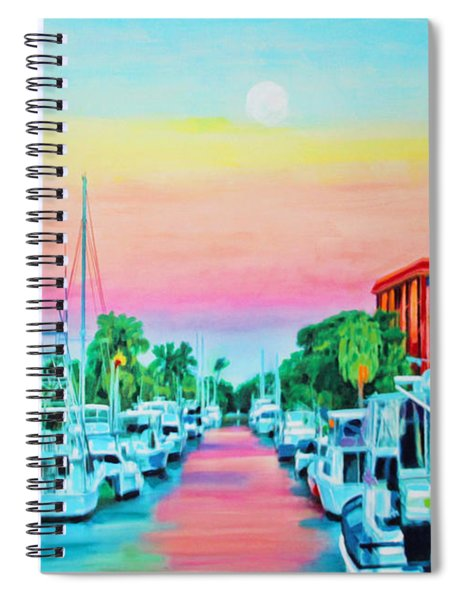Sunset On The Canal Spiral Notebook