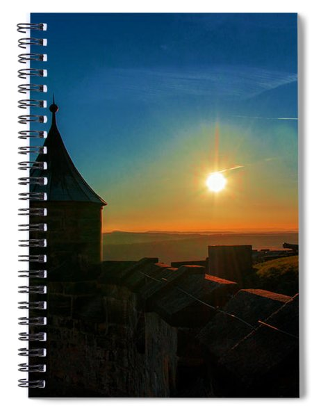 Sunset On The Fortress Koenigstein Spiral Notebook