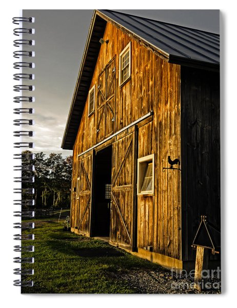 Sunset On The Horse Barn Spiral Notebook