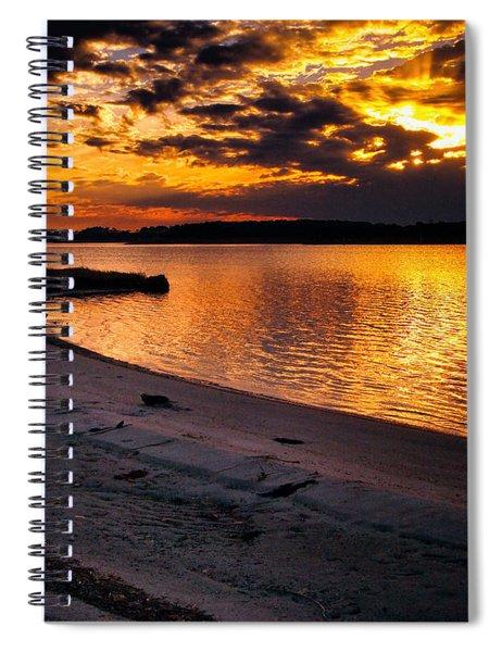 Sunset Over Little Assawoman Bay Spiral Notebook