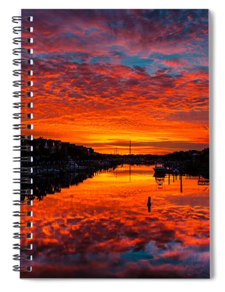 Sunset Over Morgan Creek - Wild Dunes Resort Spiral Notebook