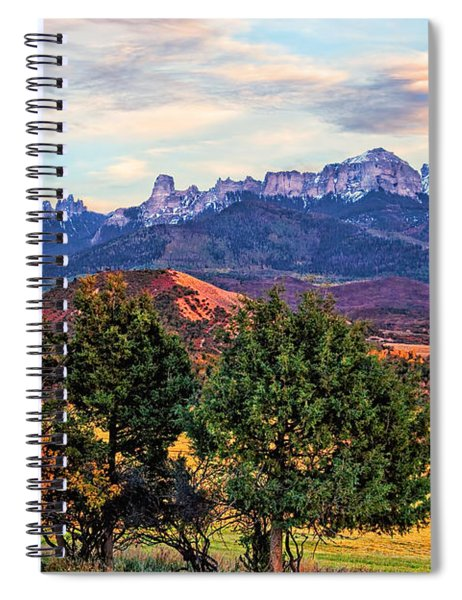 Sunset Over Owl Creek Pass Spiral Notebook