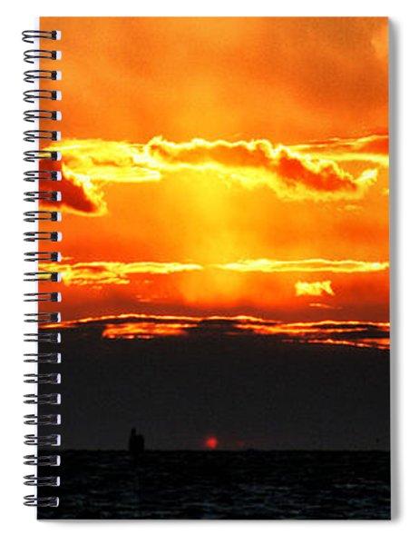 Sunset Over Sound Spiral Notebook
