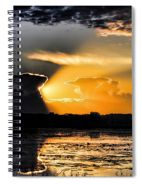 Sunset Over The Mead Wildlife Area Spiral Notebook