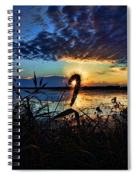 Sunset Over The Refuge Spiral Notebook