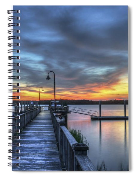 Sunset Over The River Spiral Notebook