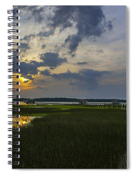 Sunset Over The Wando Spiral Notebook