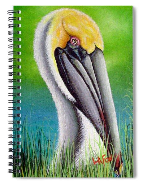 Sunset Pelican Spiral Notebook