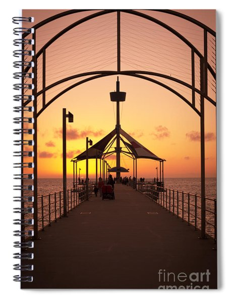 Sunset Pier Spiral Notebook