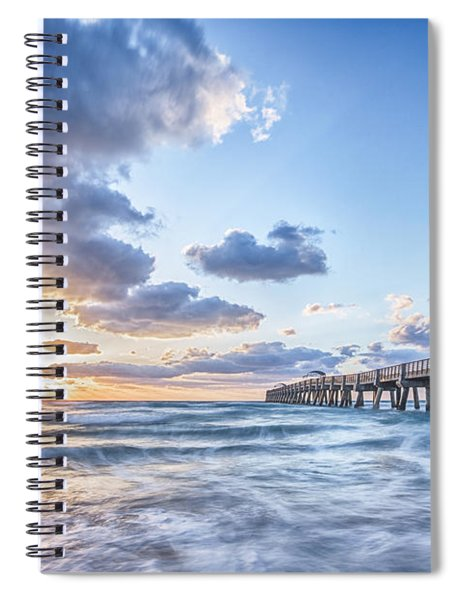 Sunshine At The Pier Spiral Notebook
