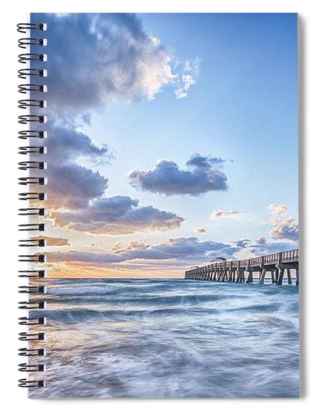 Sunshine At The Pier Spiral Notebook