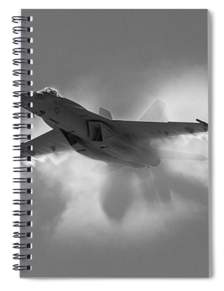 Super Hornet Shockwave Bw Spiral Notebook