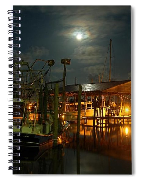 Super Moon At Nelsons Spiral Notebook