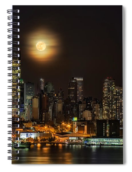 Super Moon Over Nyc Spiral Notebook