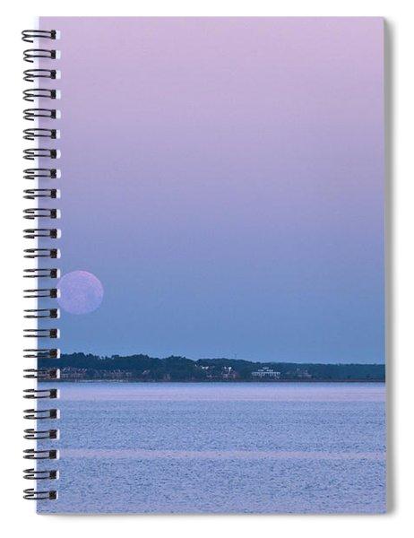 Super Moon Setting-1 Spiral Notebook