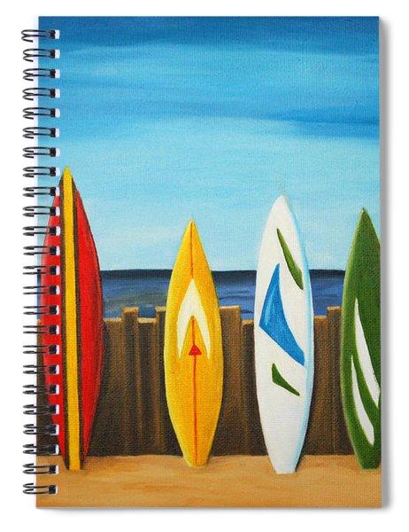 Surf On Spiral Notebook