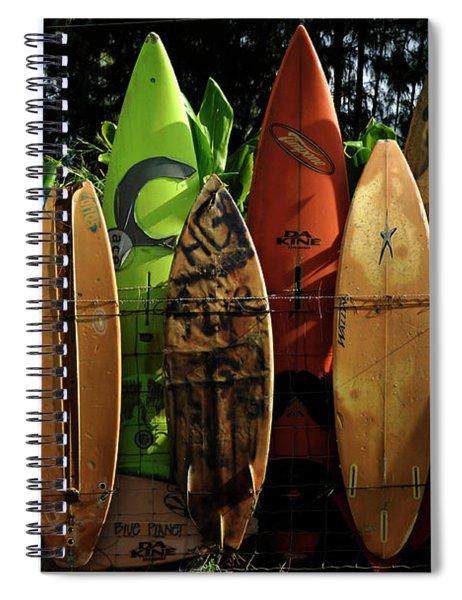Surfboard Fence 4 Spiral Notebook