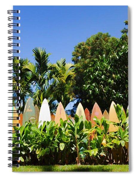 Surfboard Fence - Left Side Spiral Notebook