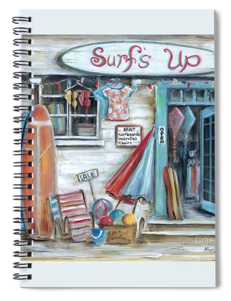 Surfs Up Beach Shop Spiral Notebook
