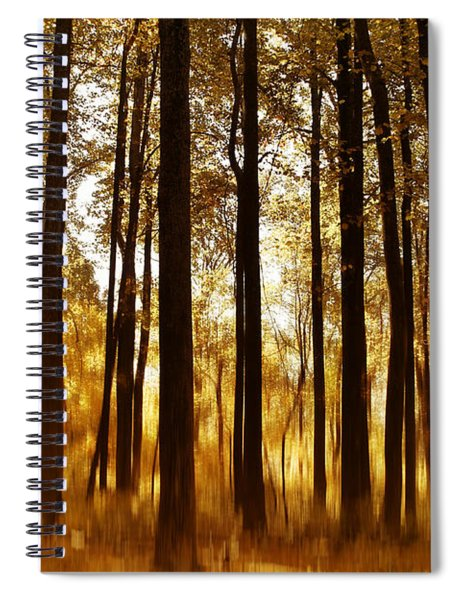 Surreal Autumn Spiral Notebook