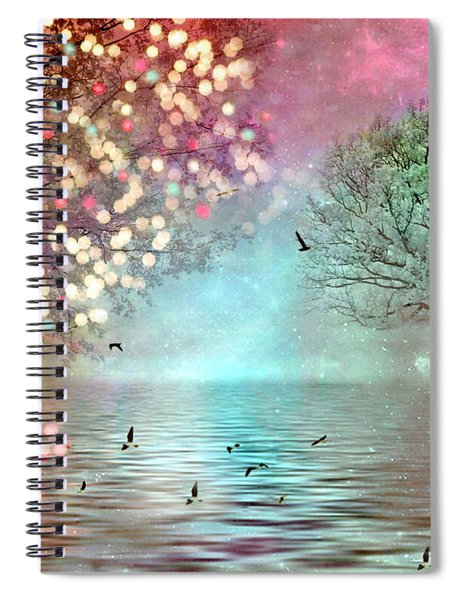Fairytale Fantasy Trees Surreal Dreamy Twinkling Sparkling Fantasy Nature Trees Home Decor Spiral Notebook