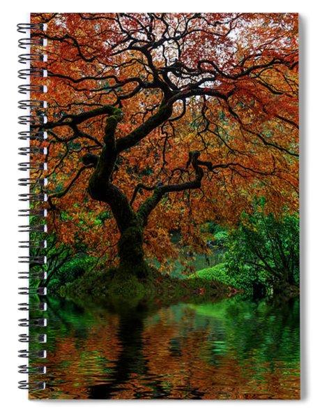 Swamped Japanese Spiral Notebook