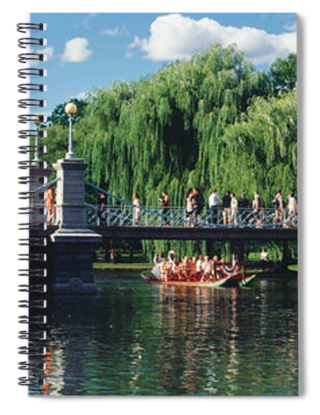Swan Boat In The Pond At Boston Public Spiral Notebook