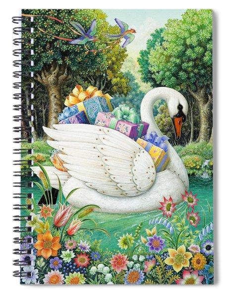 Swan Boat Spiral Notebook