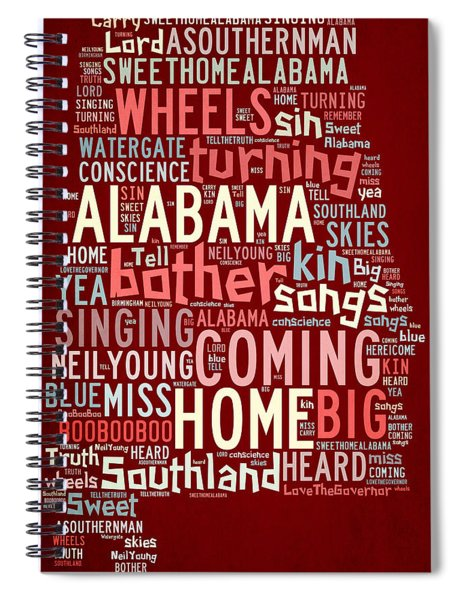 Sweet Home Alabama 4 Spiral Notebook