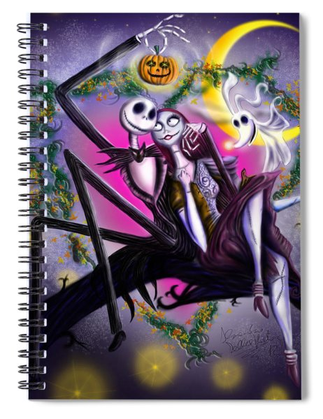 Sweet Loving Dreams In Halloween Night Spiral Notebook