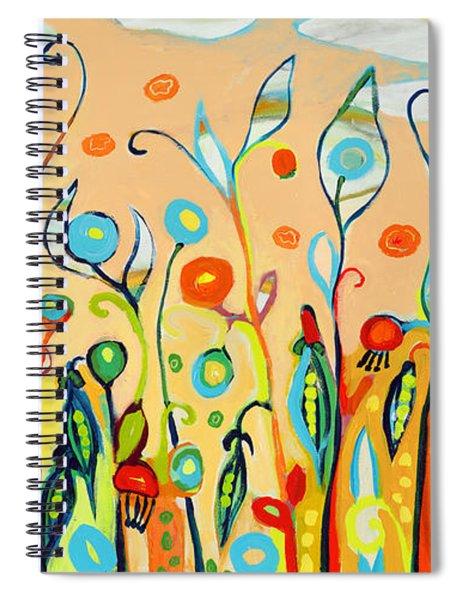 Sweet Peas And Poppies Spiral Notebook