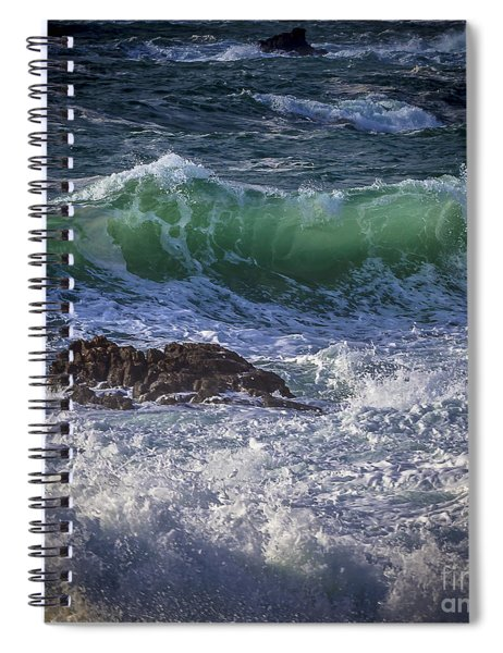 Swells In Doninos Beach Galicia Spain Spiral Notebook