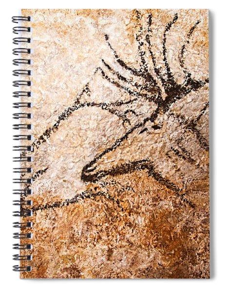 Swimming Deer Spiral Notebook