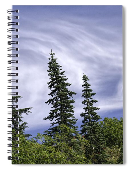 Swirling Clouds Crooked Trees Spiral Notebook