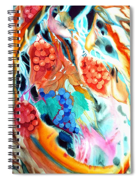 Swirling Grapes Spiral Notebook