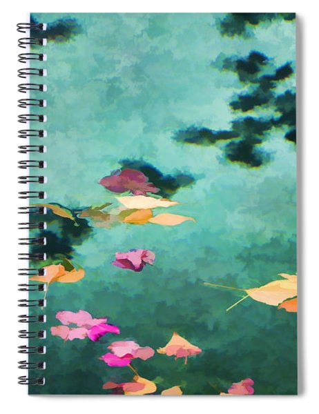 Swirling Leaves And Petals 6 Spiral Notebook