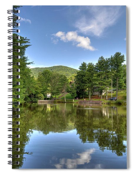 Swiss Mountain Lake Spiral Notebook
