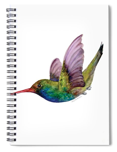 Swooping Broad Billed Hummingbird Spiral Notebook