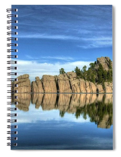 Spiral Notebook featuring the photograph Sylvan Lake Reflections by Mel Steinhauer