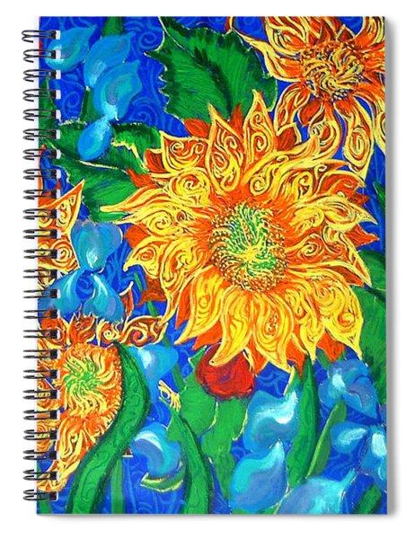 Symphony Of Sunflowers Spiral Notebook