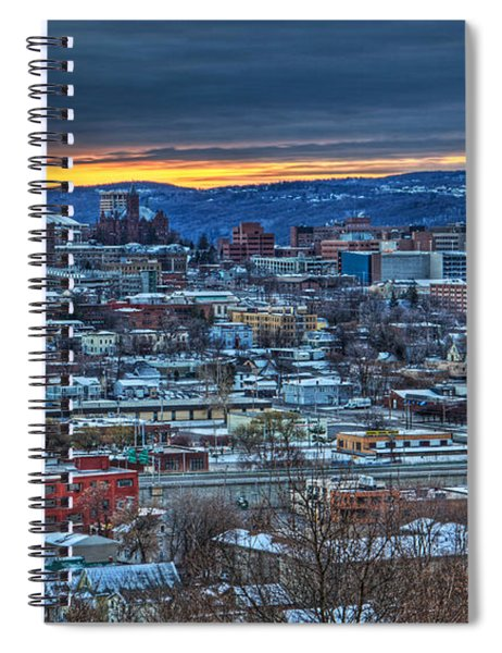 Syracuse At Sunset Spiral Notebook