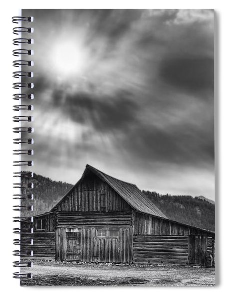 T.a. Moulton Barn - Black And White Spiral Notebook