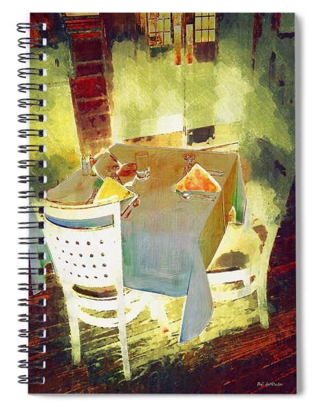 Table At The Fauve Cafe Spiral Notebook