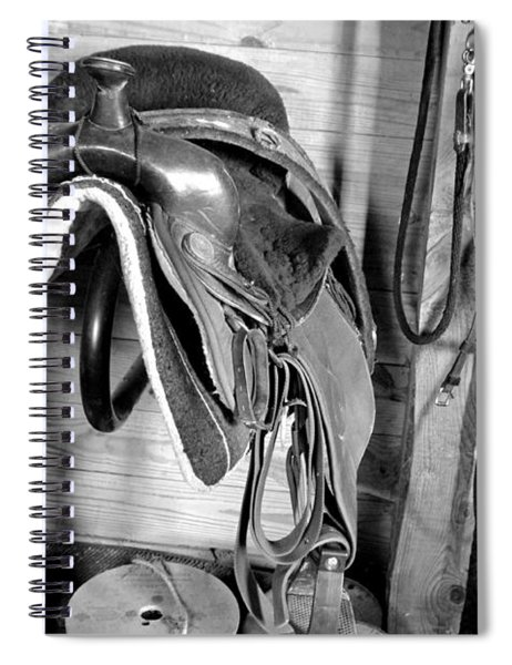 Tack Room Bw Spiral Notebook